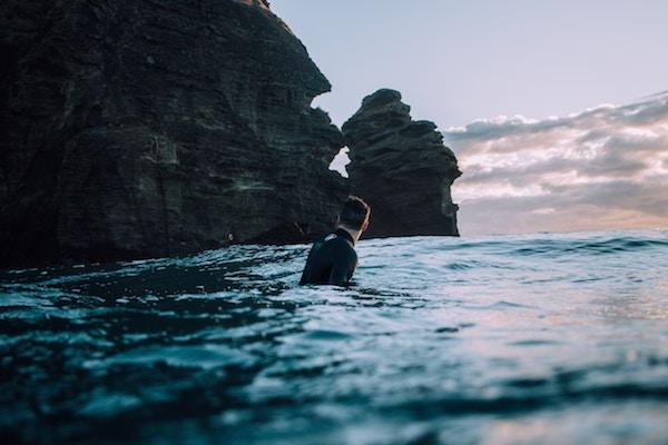 Man in Ocean - Dating Relationship Standards Introverted Alpha