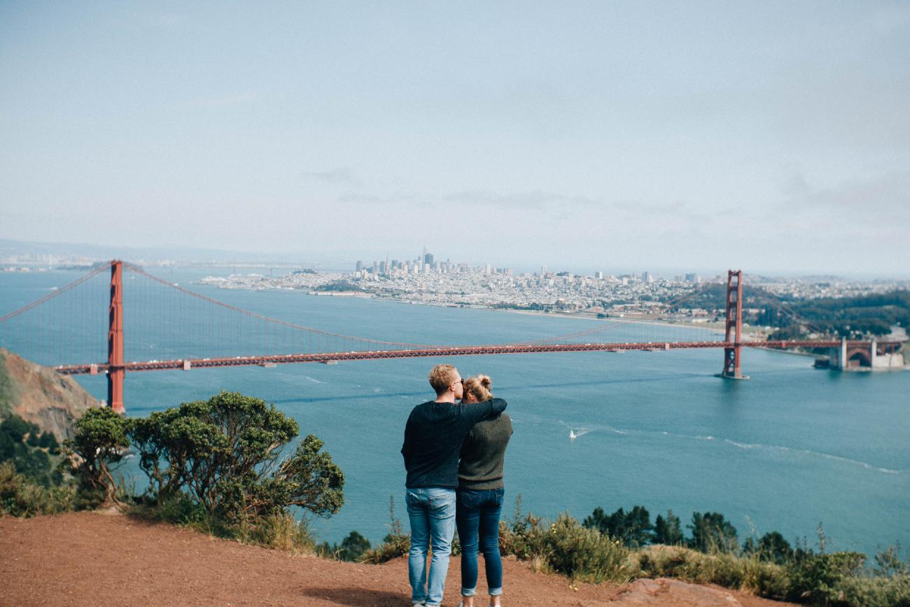 Couple Near Golden Gate Bridge - Date as an Engineer in San Francisco