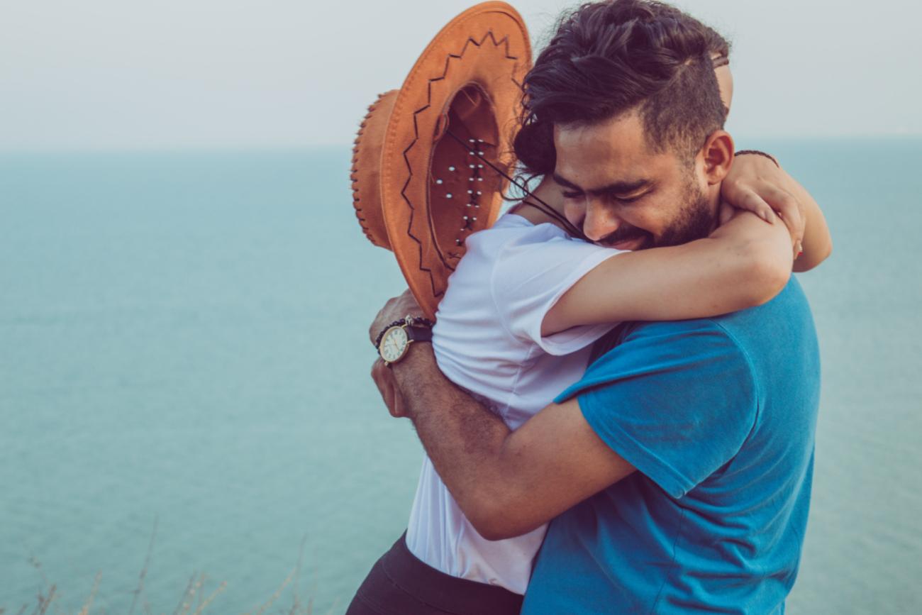 Couple Hugging - Platonic Touch