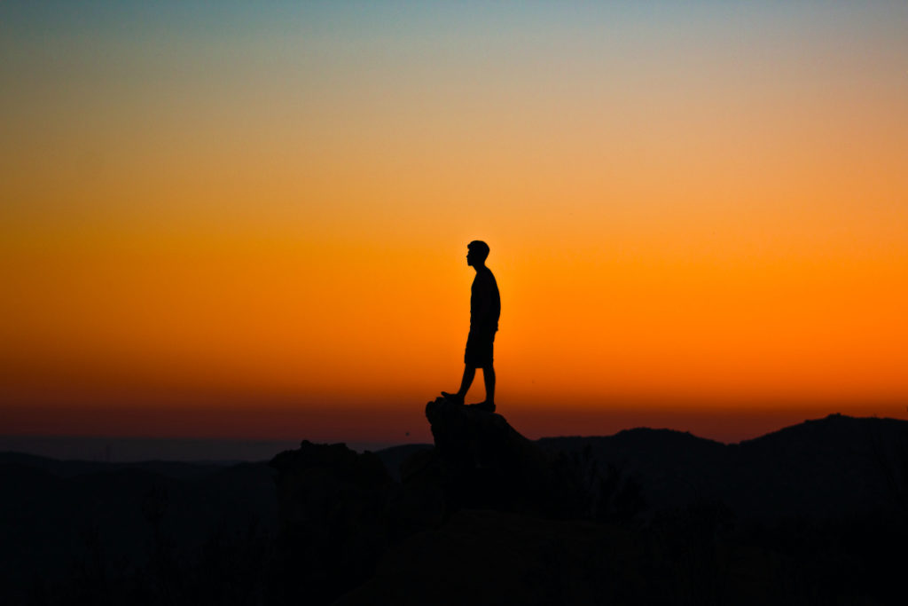 Man and Sunset - Introverts are Awesome
