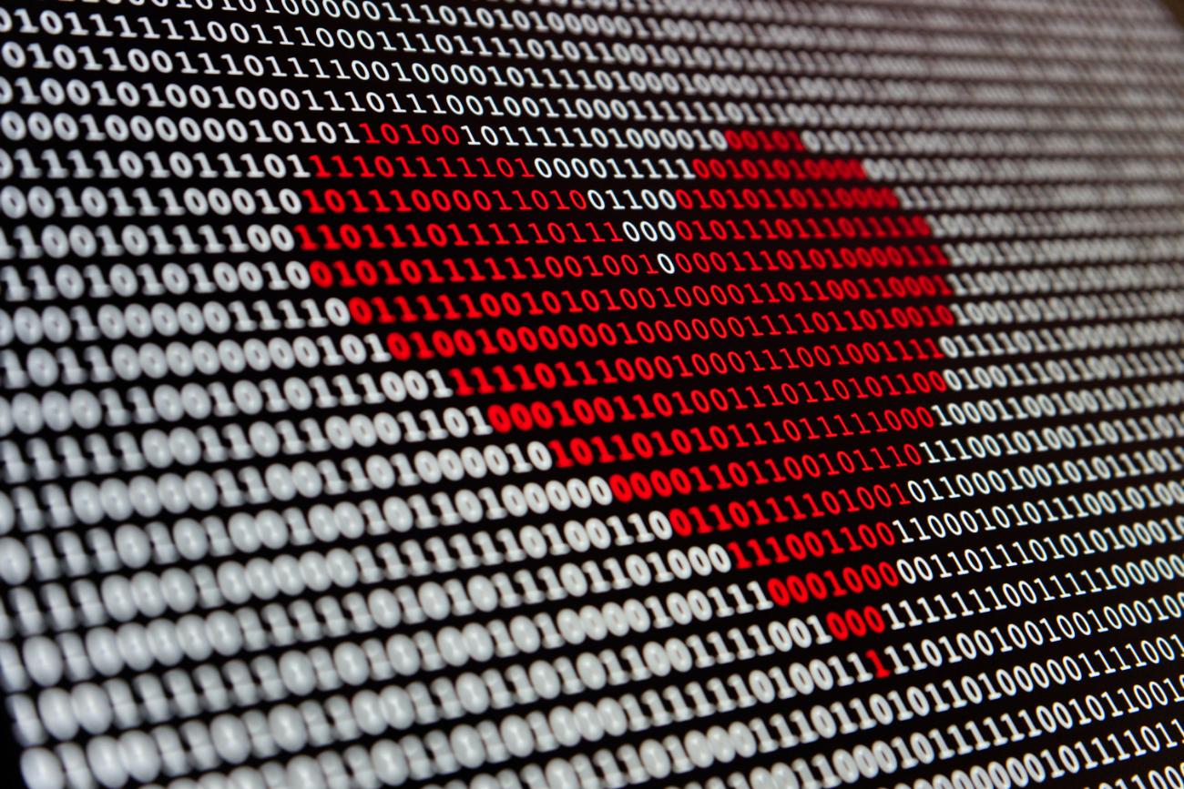Binary Code Heart - Engineers Dating