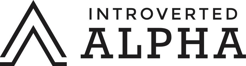 Introverted Alpha Logo Wide