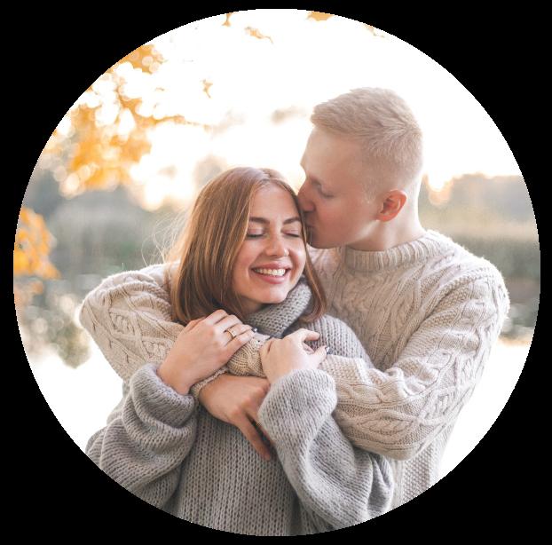 Couple Embracing Circle - Benevolent Badass Boundaries