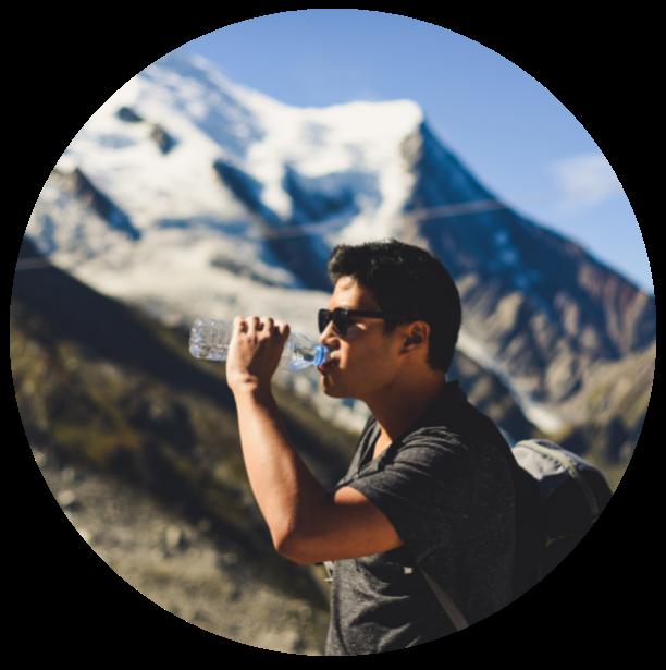 Man Drinking Water on Hike Circle - IA Academy