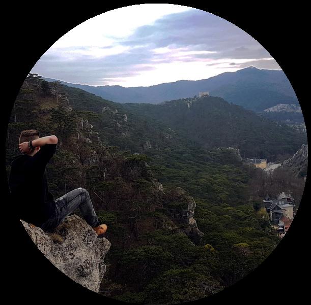 Man on Mountain Circle - IA Academy