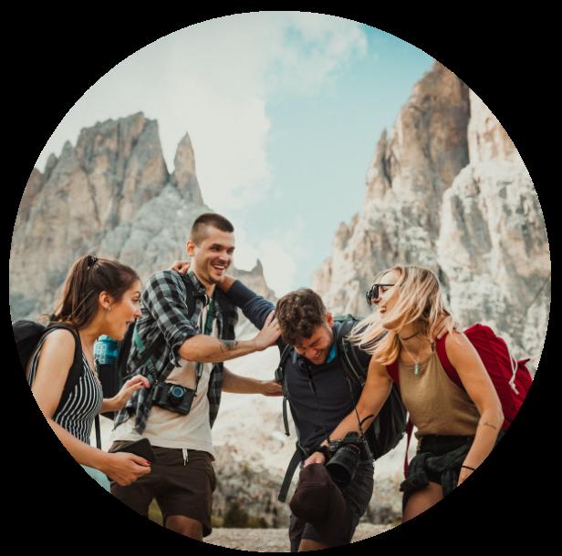 Friends Mountain Circle - Level Up Coaching